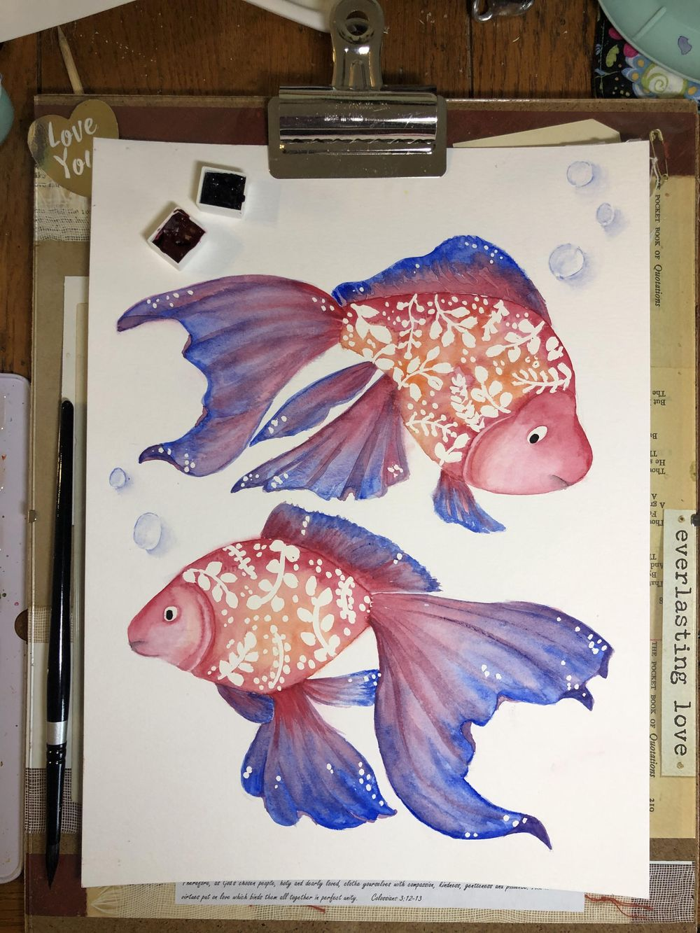 Watercolor Fishes with Femvisionary - image 1 - student project