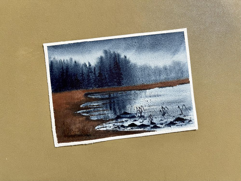 Soft and flows watercolor landscapes by Sukrutha - image 6 - student project