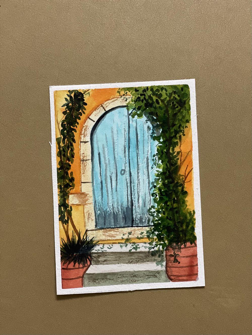 Watercolor postcards: Vinita - image 2 - student project