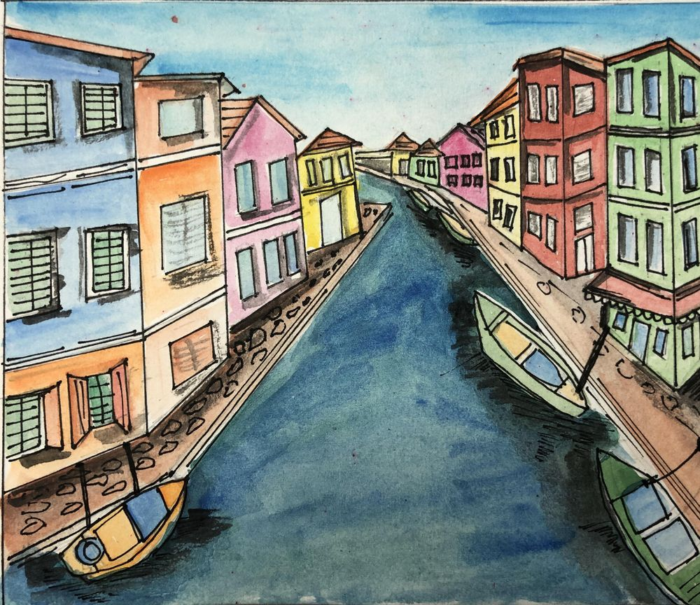 Urban sketching by Zaneena - image 1 - student project