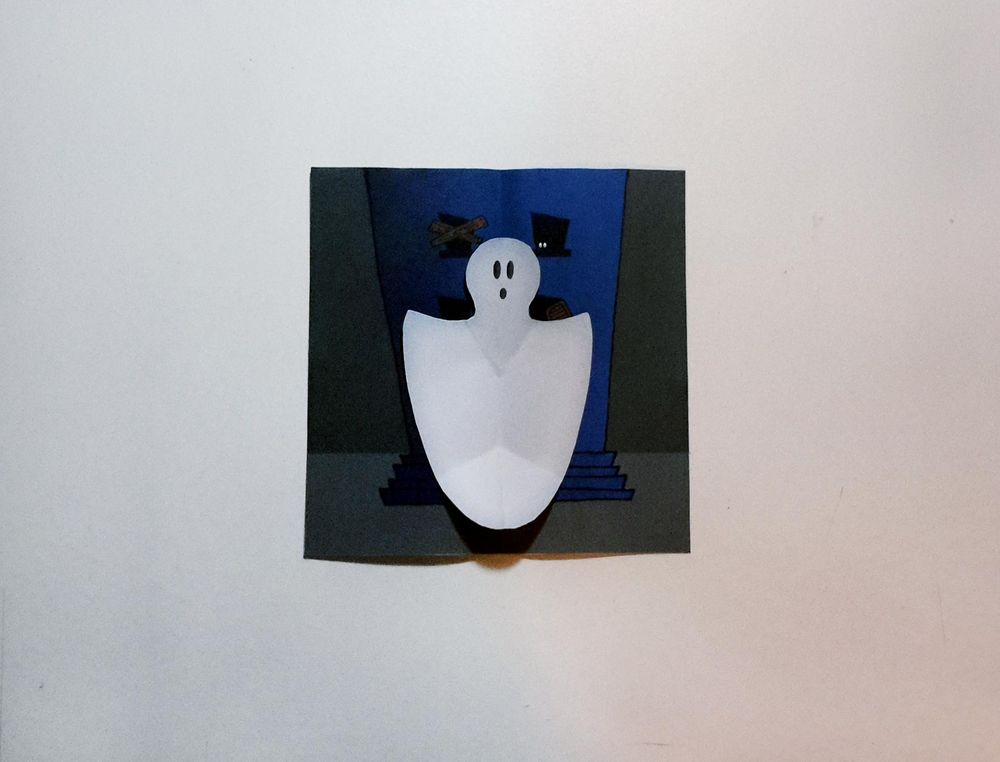 SAMPLE PROJECT: Ghost Halloween Card - image 1 - student project