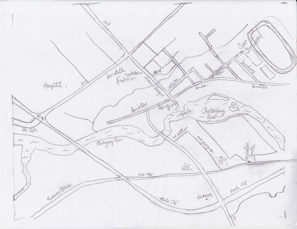Inky Map - Ormstown, Quebec, Canada - image 1 - student project