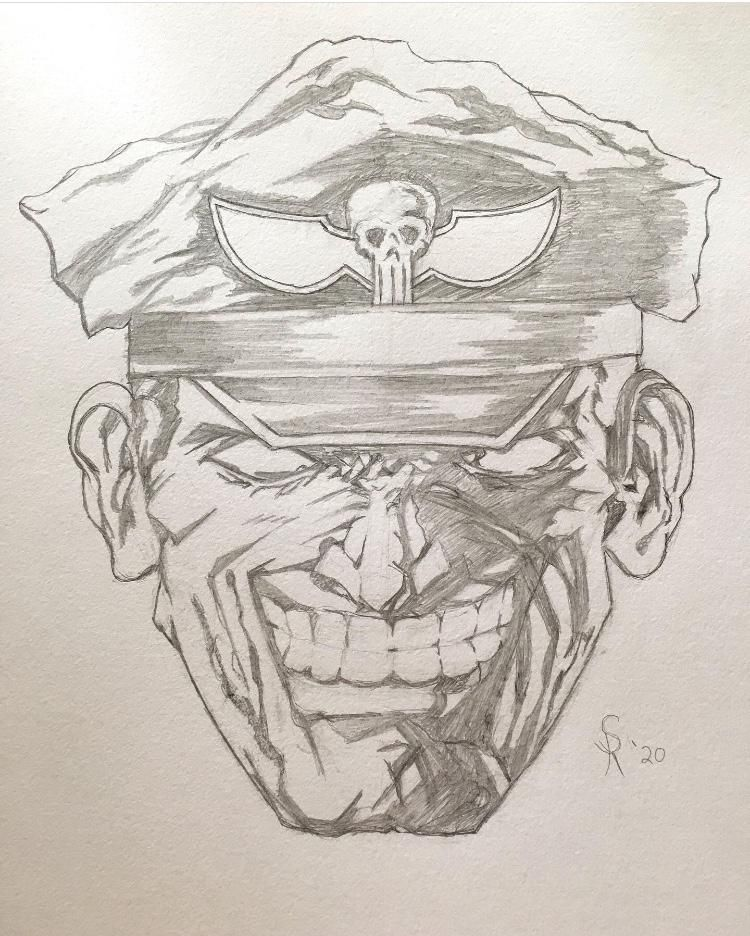 Student project just pencil here. Bison from Street Fighter - image 1 - student project