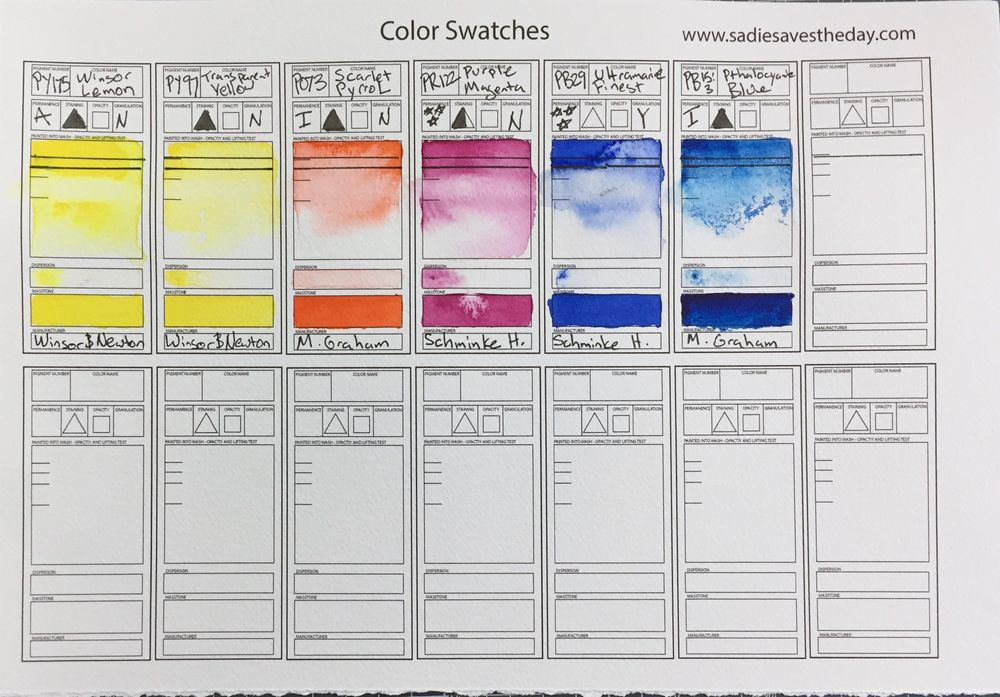Mixing Vibrant Watercolors (Teacher's Example Project) - image 1 - student project