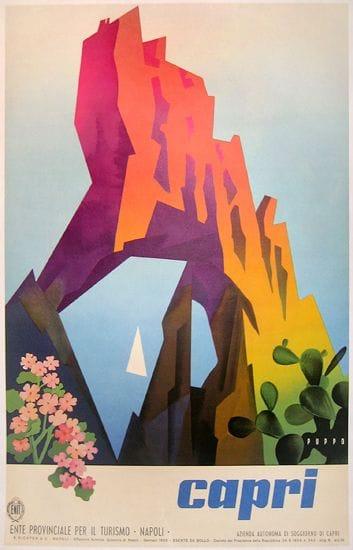 Capri Travel Poster - image 1 - student project