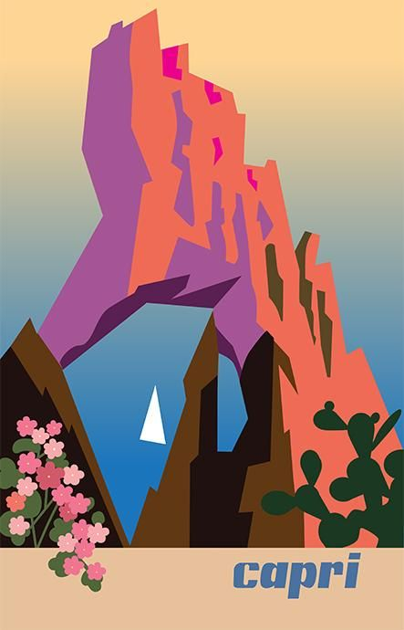 Capri Travel Poster - image 2 - student project