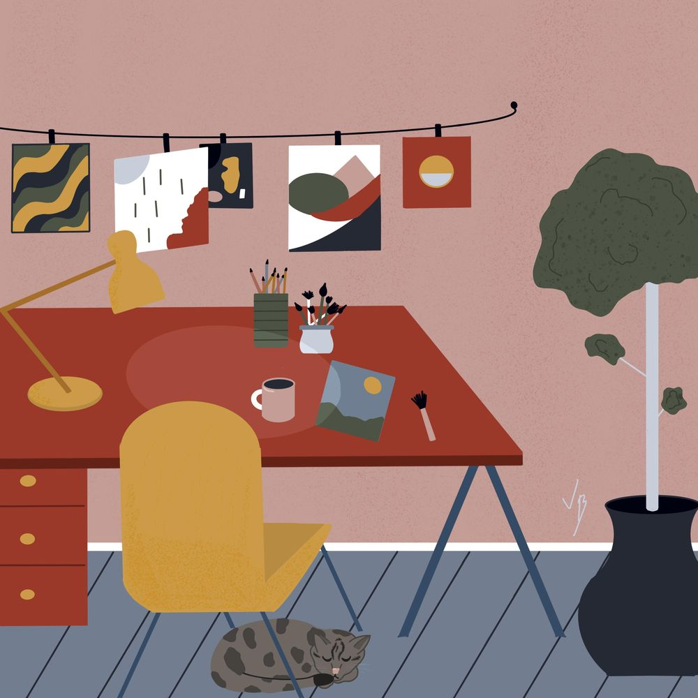 Cozy art space :) - image 1 - student project