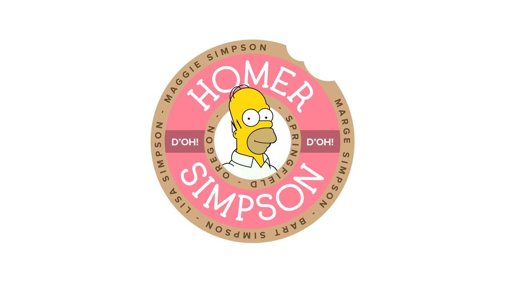 Homer Simpson Travel Sticker - image 1 - student project
