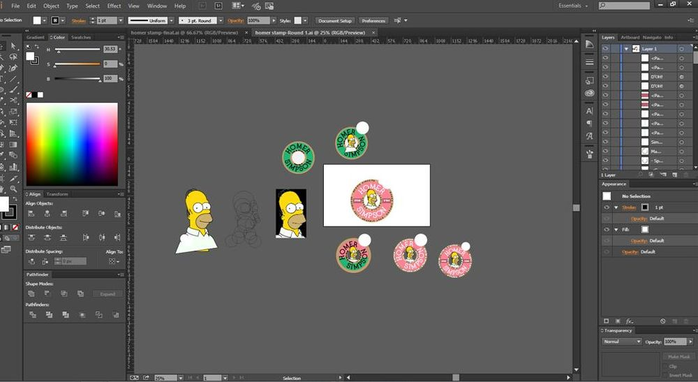 Homer Simpson Travel Sticker - image 3 - student project