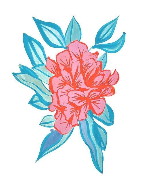 Gouache Florals - image 2 - student project