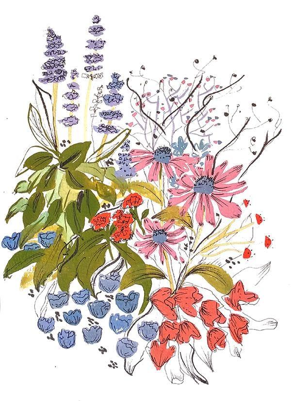 Gouache Florals - image 5 - student project