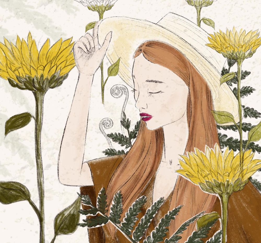 Sunflowers girl - image 1 - student project