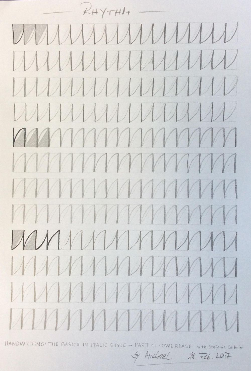 Michael´s Assignments (1. Current Handwritung / 2. Rhythm) - image 2 - student project
