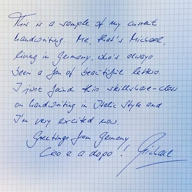 Michael´s Assignments (1. Current Handwritung / 2. Rhythm) - image 1 - student project