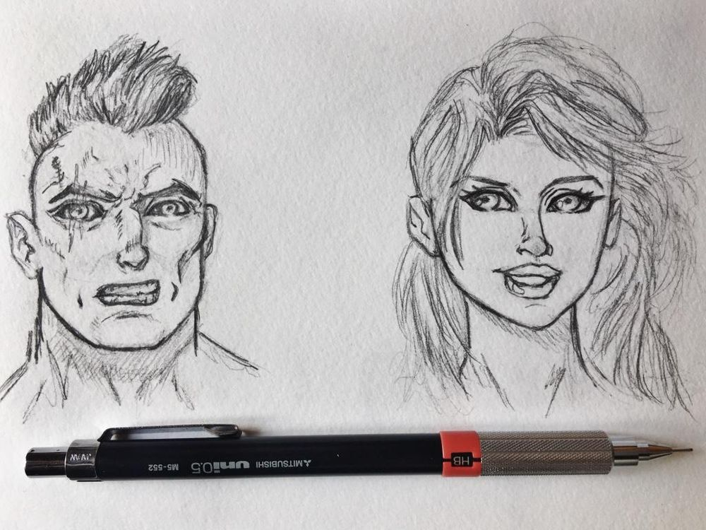 Comic Style Faces - image 1 - student project
