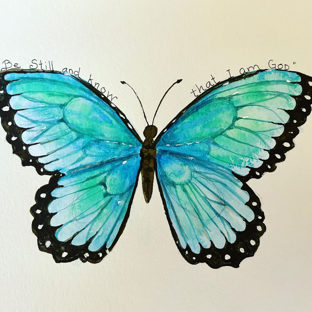 Butterfly and Bible verse - image 1 - student project