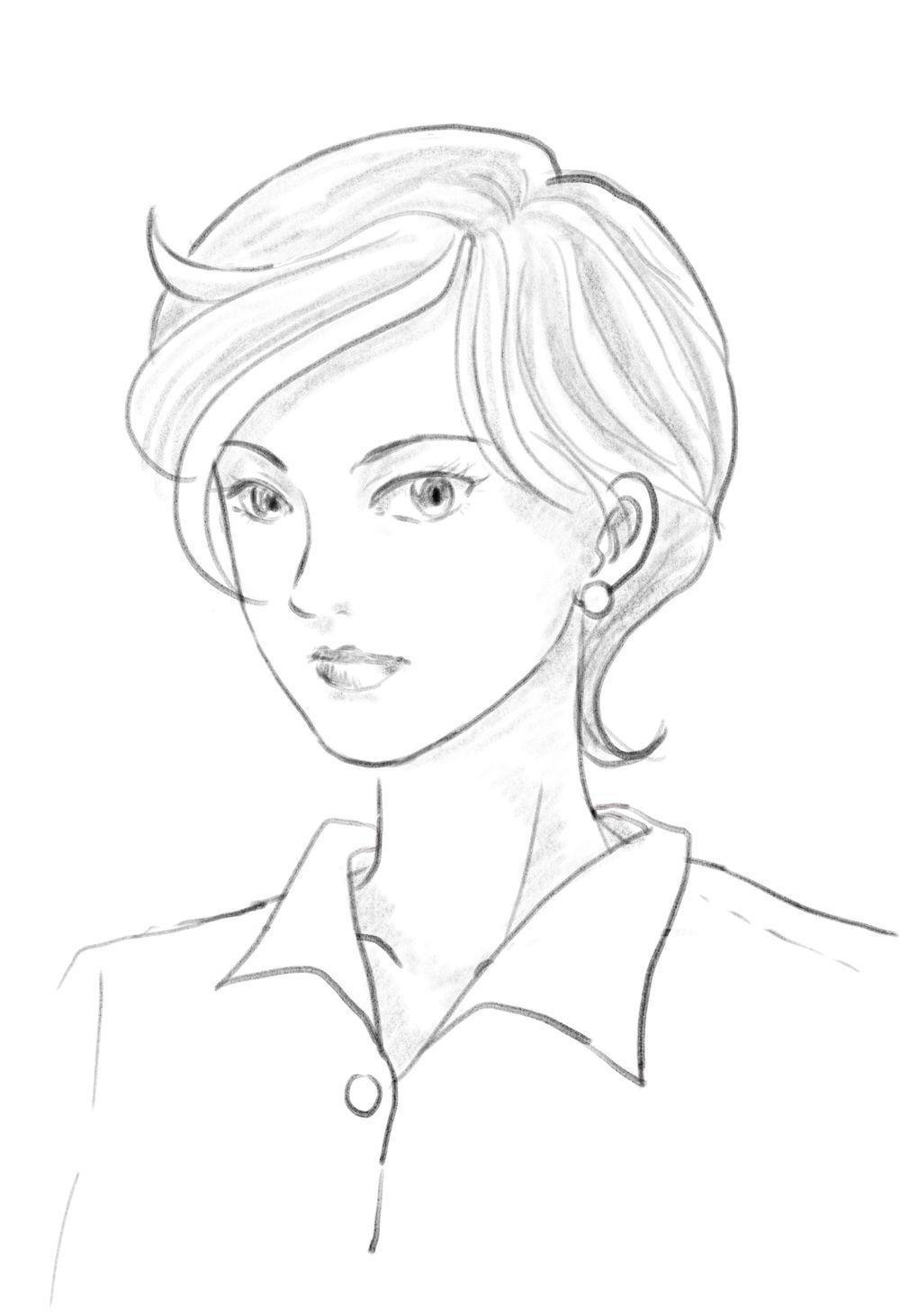 Procreate female portrait - image 1 - student project