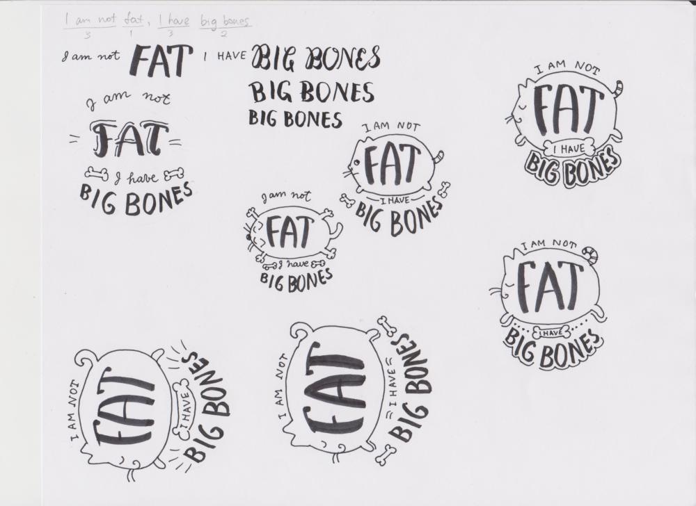I am not fat, I have big bones - image 1 - student project