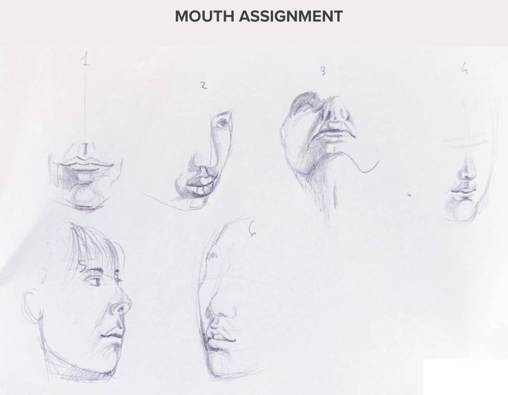 Intermediate head drawing technique - image 3 - student project