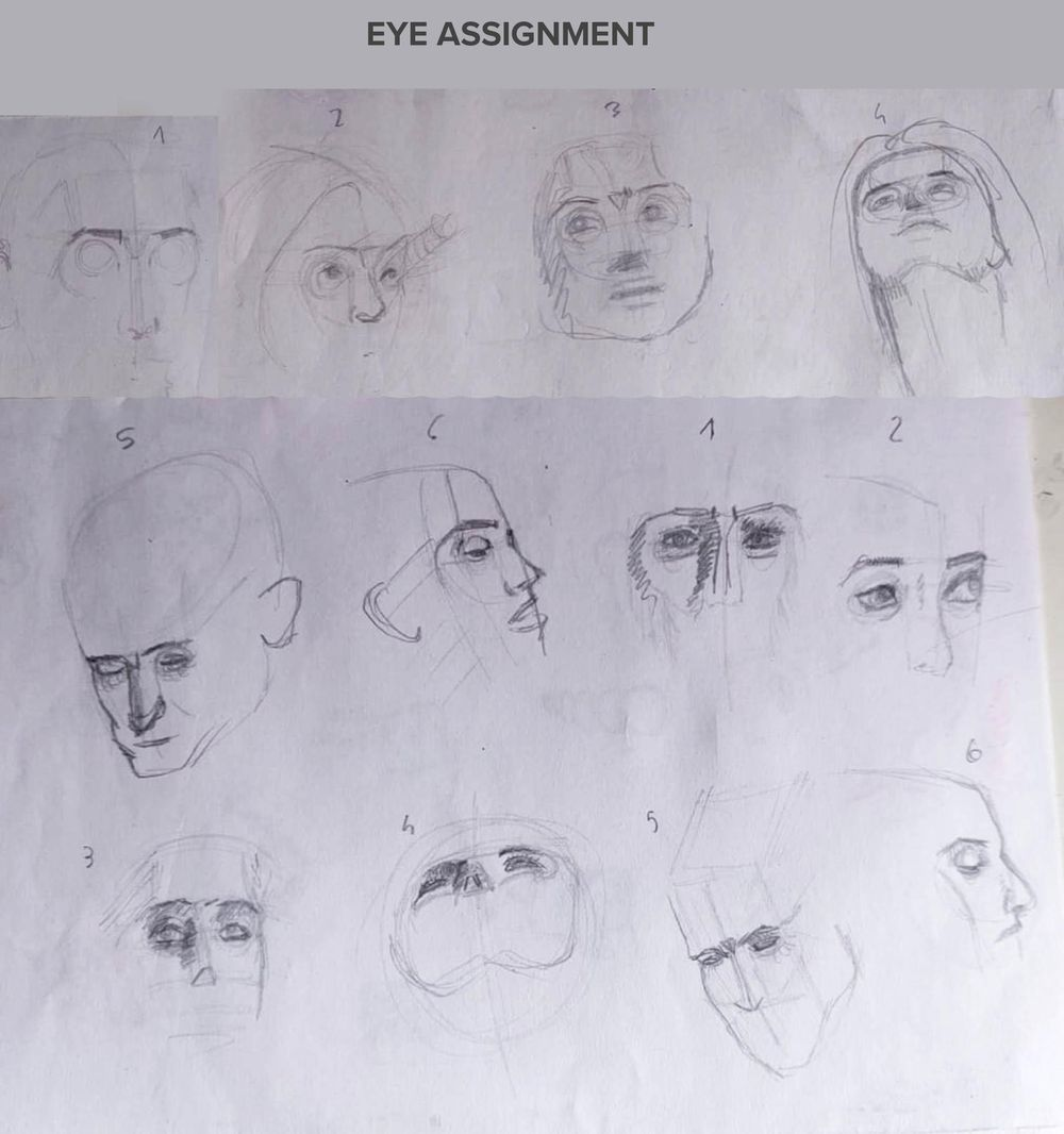 Intermediate head drawing technique - image 1 - student project