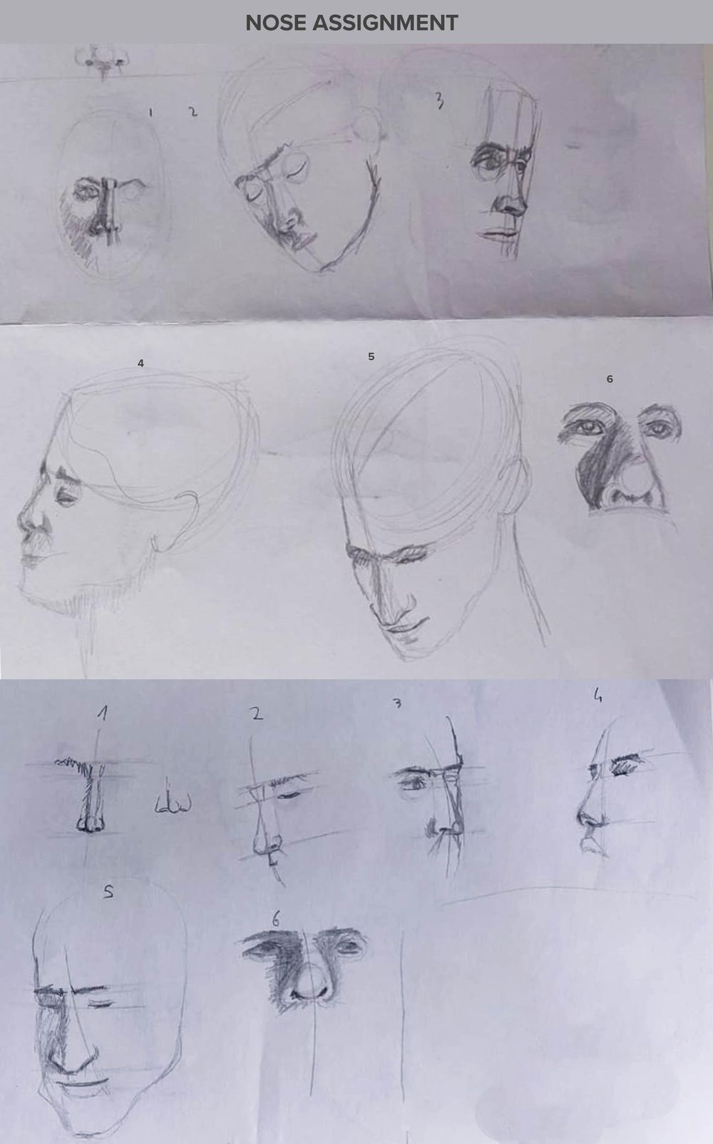 Intermediate head drawing technique - image 2 - student project