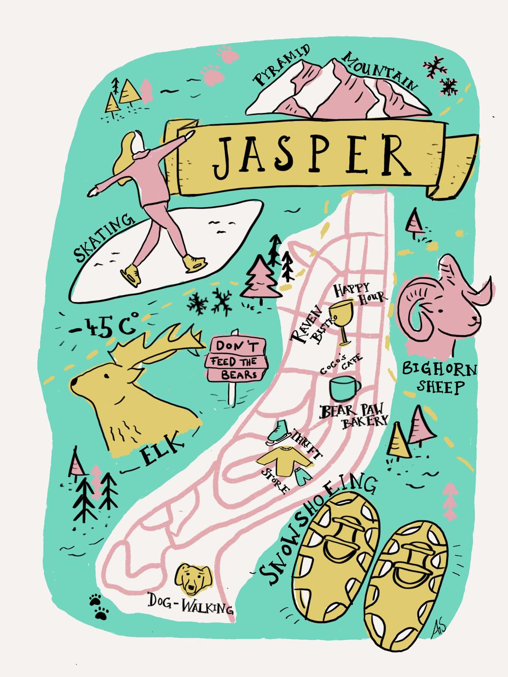 Winter in Jasper, Alberta - image 1 - student project