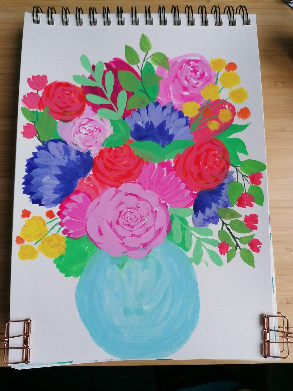 Flower bouquet with gouache - image 3 - student project