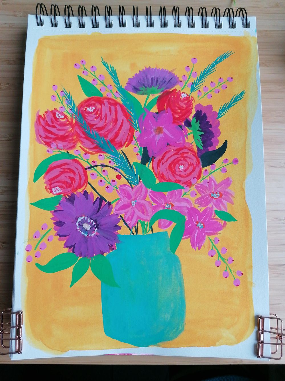 Flower bouquet with gouache - image 1 - student project