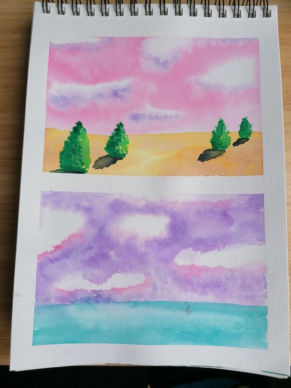 Watercolor landscape - image 3 - student project