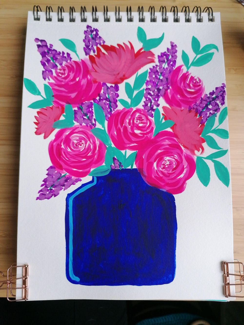 Flower bouquet with gouache - image 4 - student project