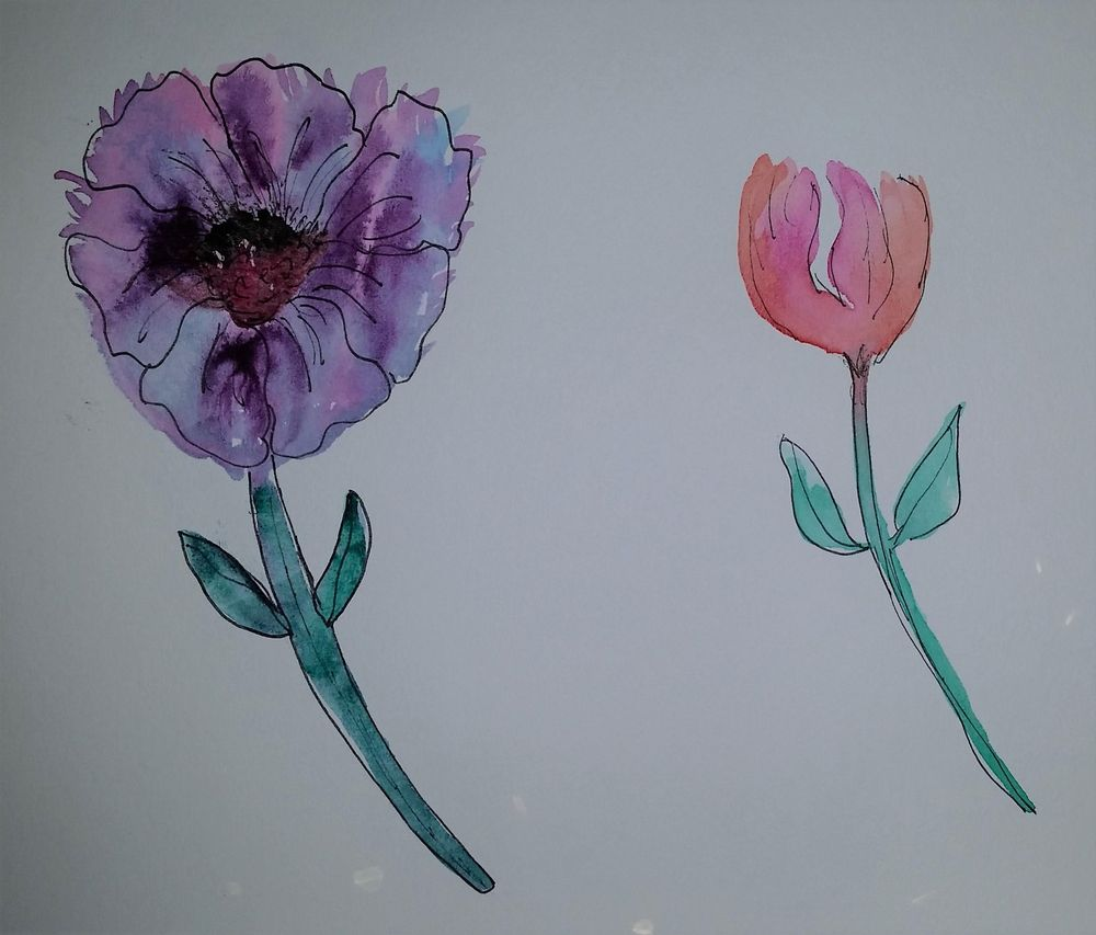Fun with watercolors - image 3 - student project