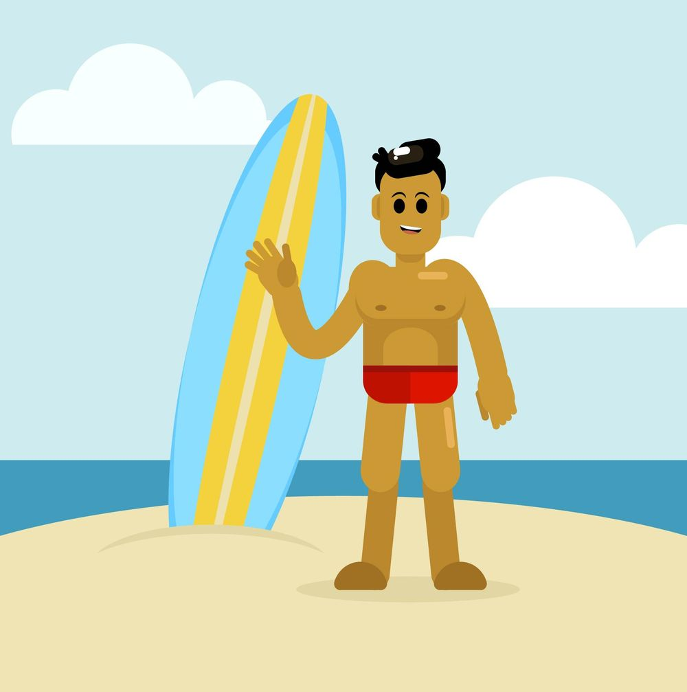 Surfer Guy - image 1 - student project