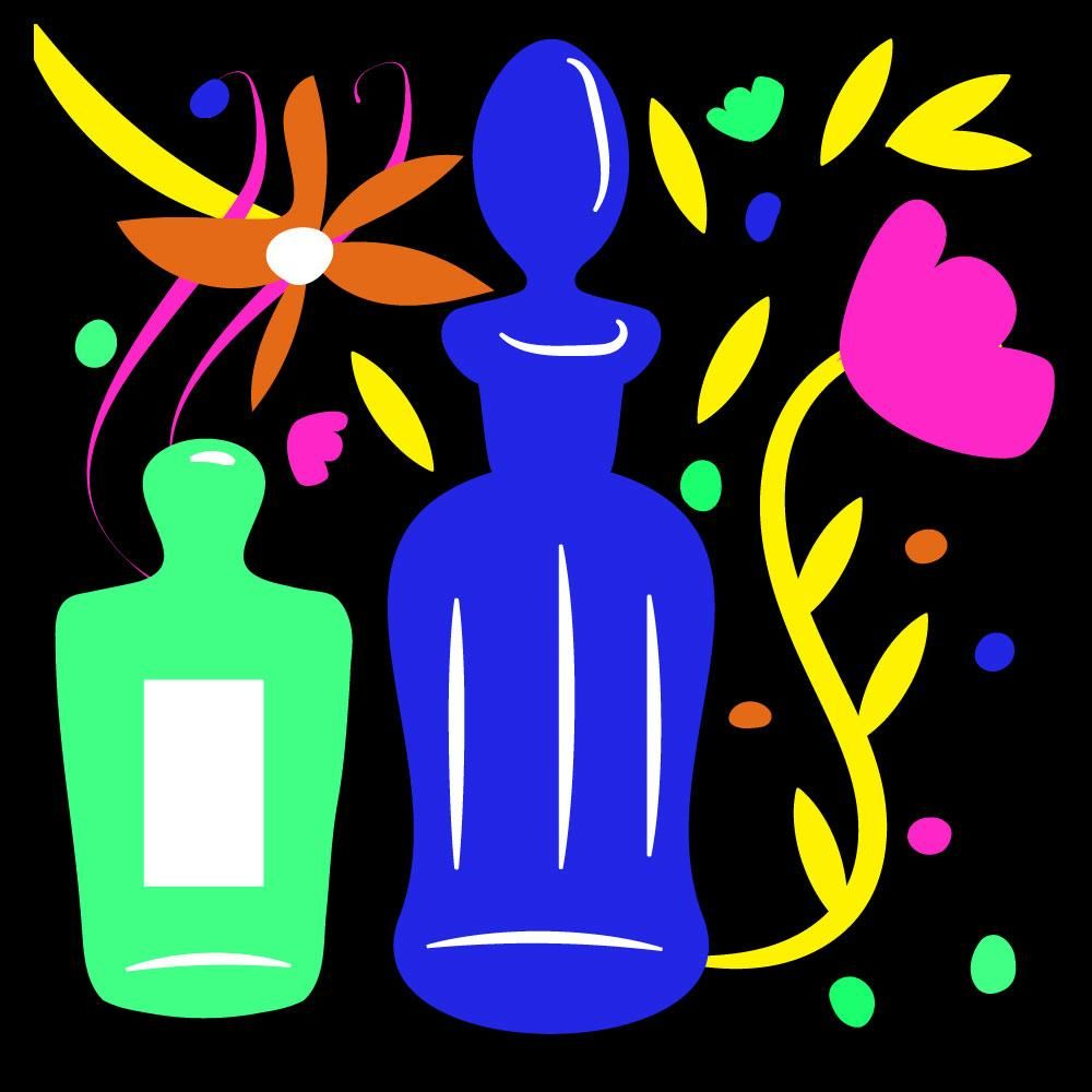 Flowers and perfume bottles - image 2 - student project