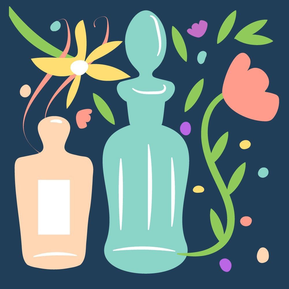 Flowers and perfume bottles - image 1 - student project