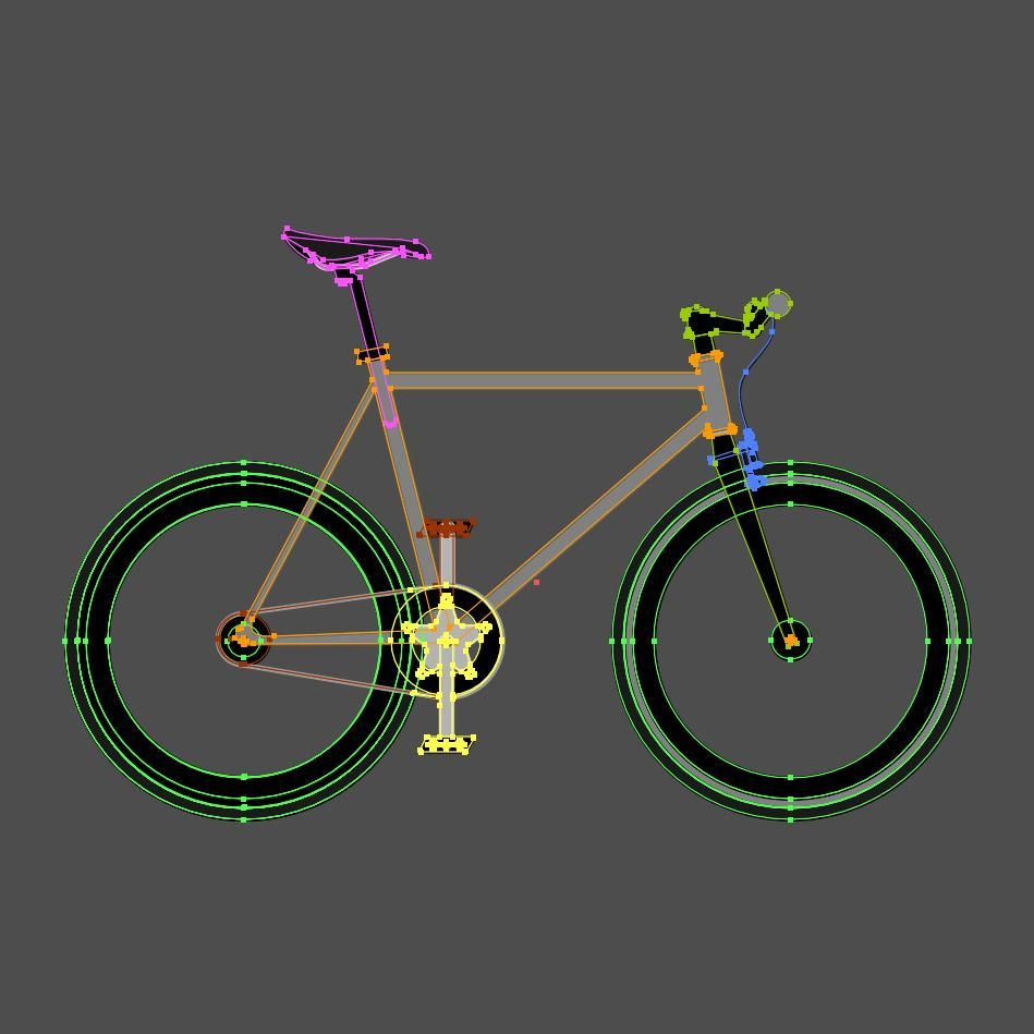 Bicycle shadow with Perspective grid tool - image 2 - student project