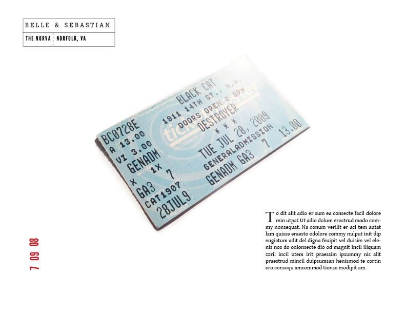 Ticket Stubs - image 5 - student project