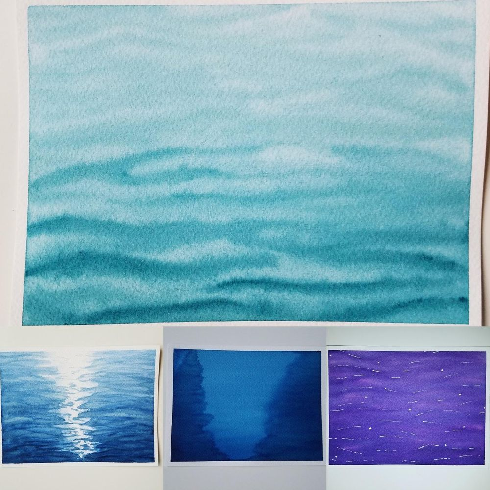 Water Watercolored - image 1 - student project