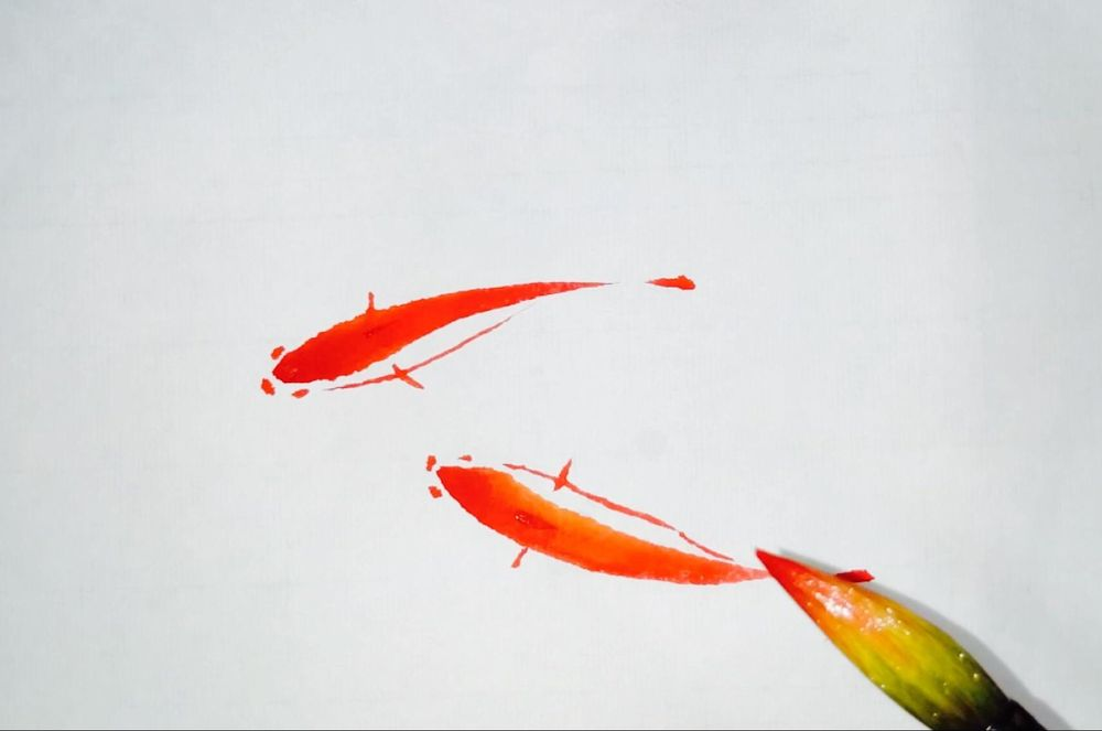 Paint Simple Oriental Style Fish - image 1 - student project