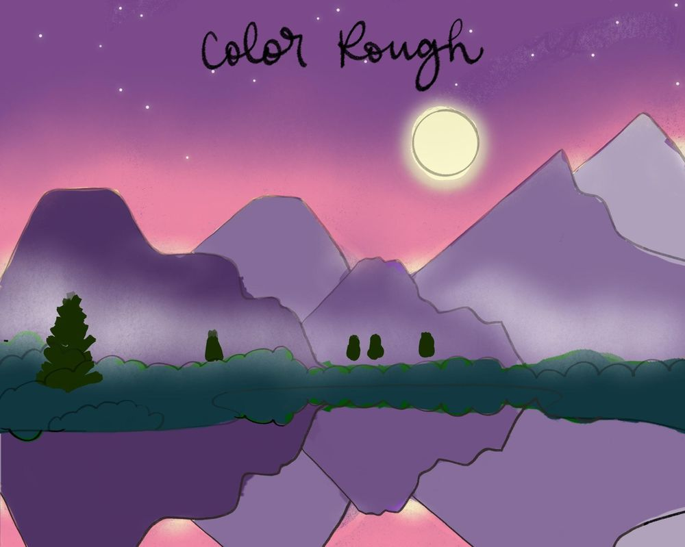 Moonlit Mountains - image 4 - student project