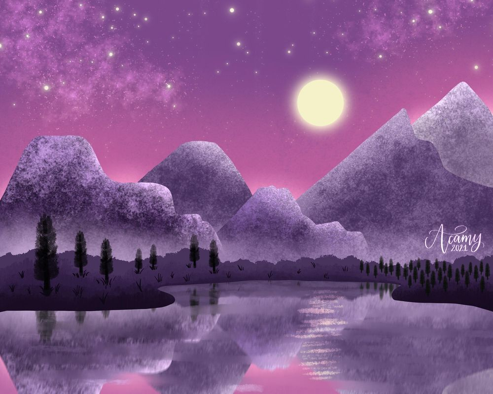 Moonlit Mountains - image 5 - student project