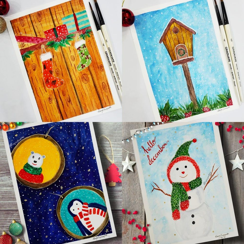 My Christmas Postcards - image 1 - student project