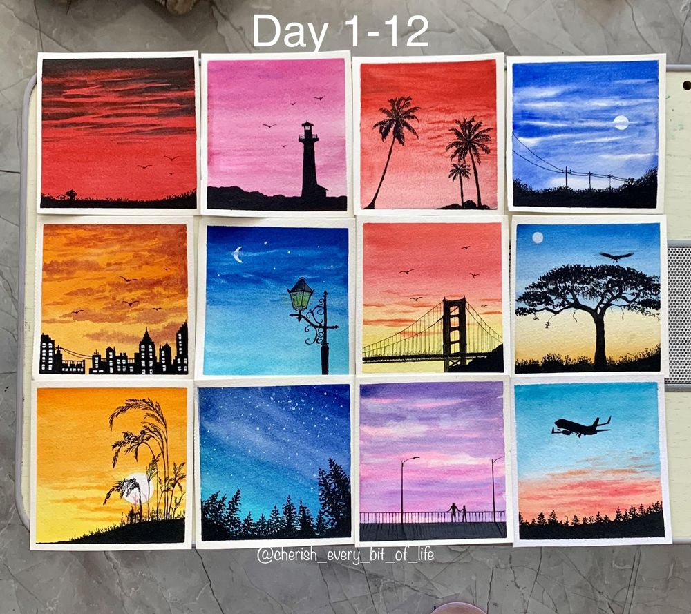 30 days watercolor challenge by Z - image 4 - student project