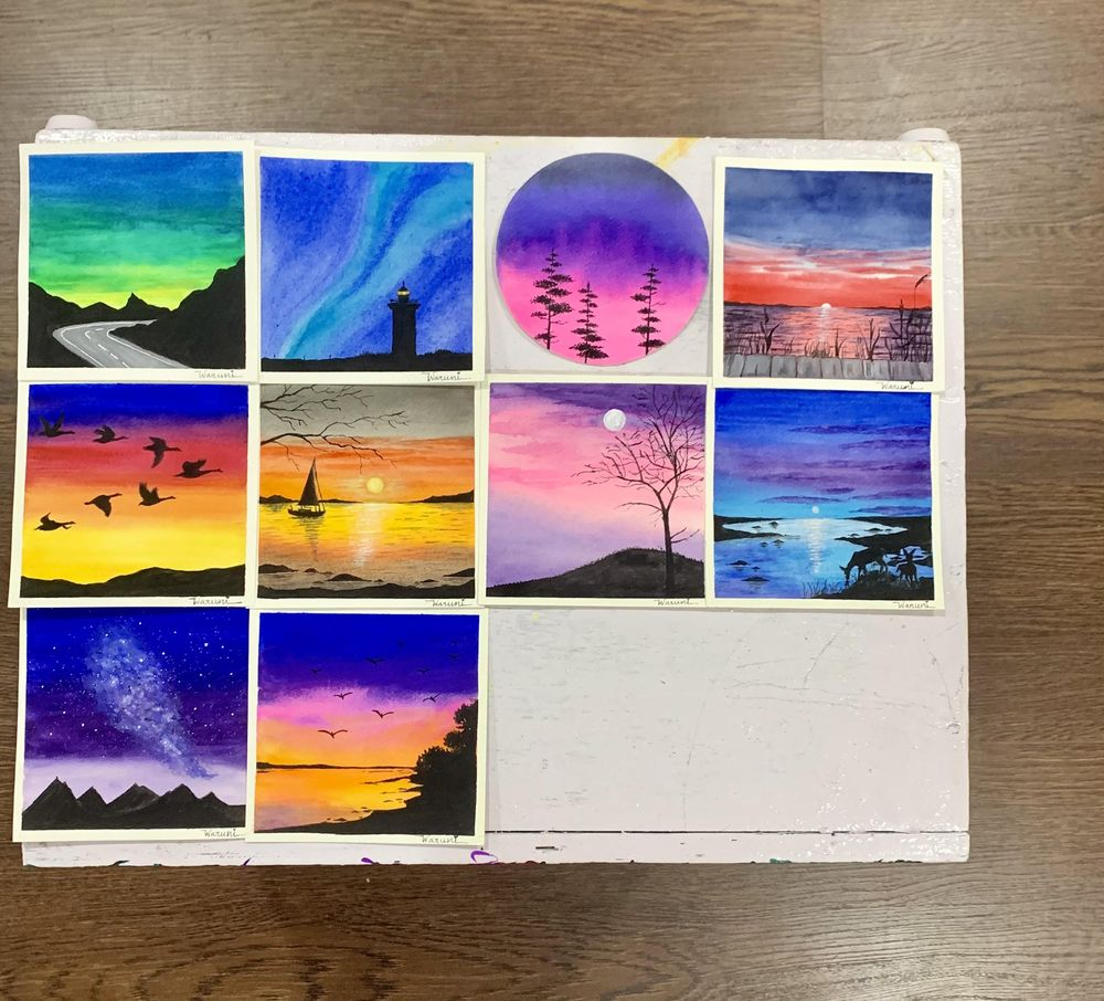 30 days watercolor challenge by Z - image 2 - student project