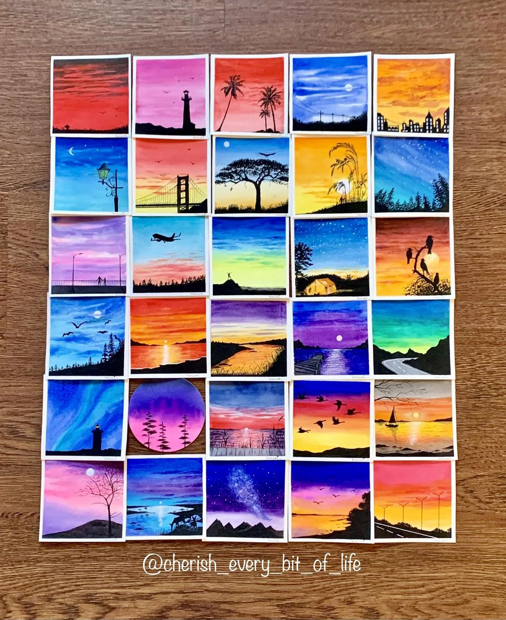 30 days watercolor challenge by Z - image 1 - student project