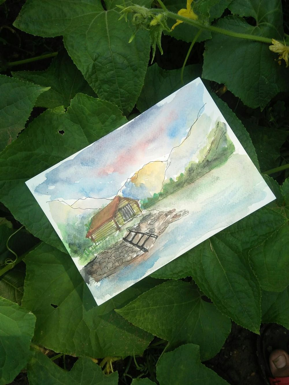Watercolor sceneries - image 2 - student project