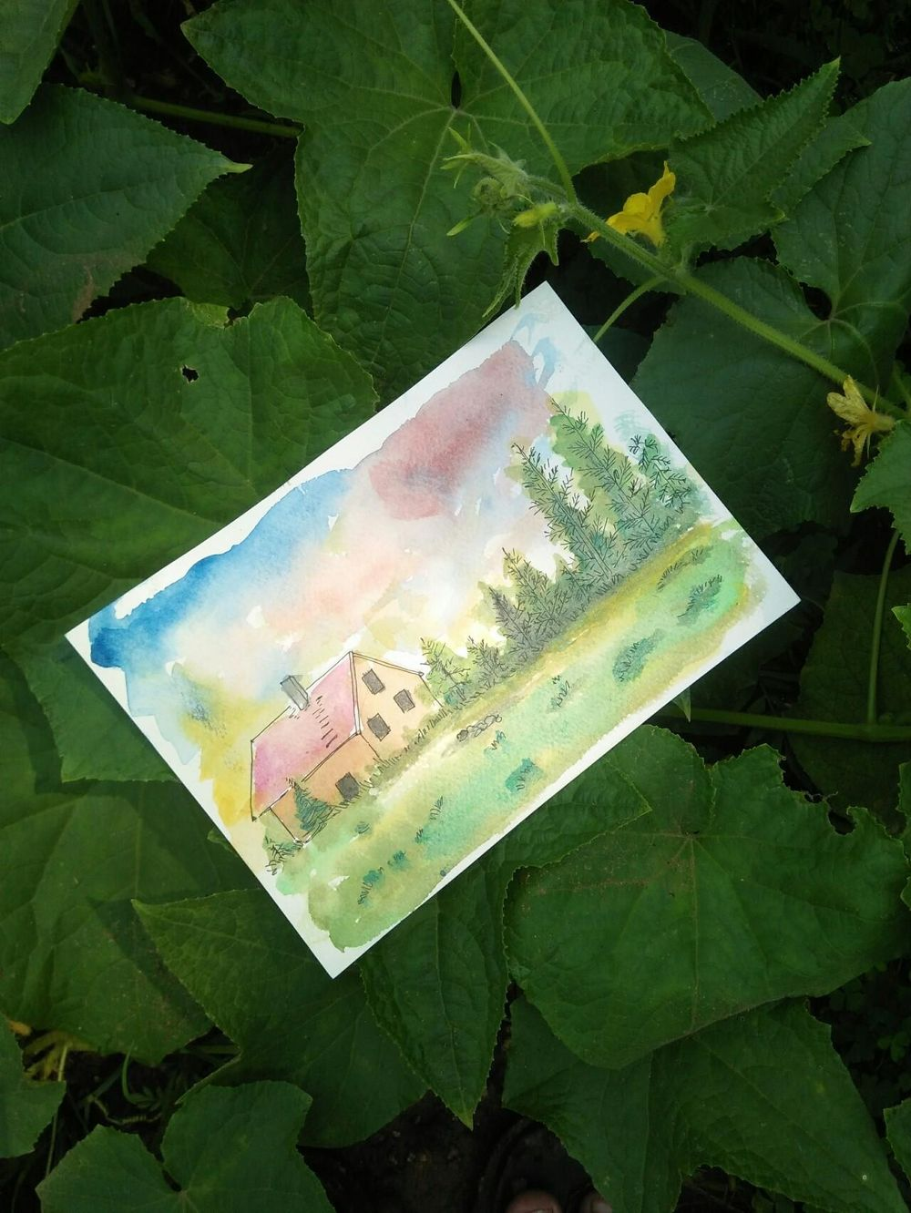Watercolor sceneries - image 1 - student project
