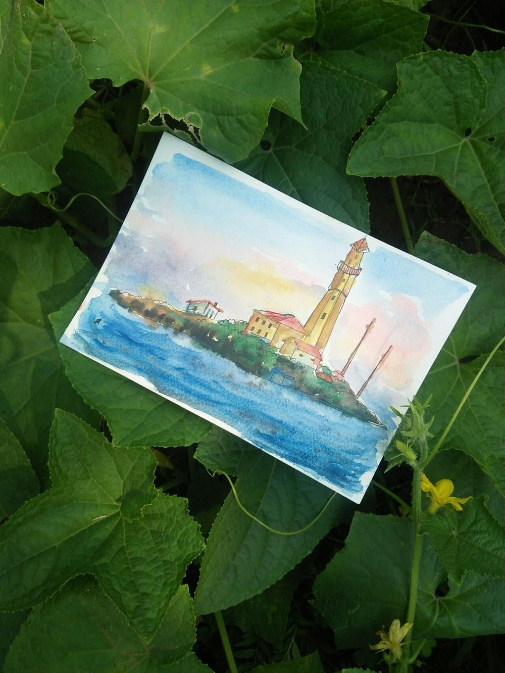 Watercolor sceneries - image 3 - student project