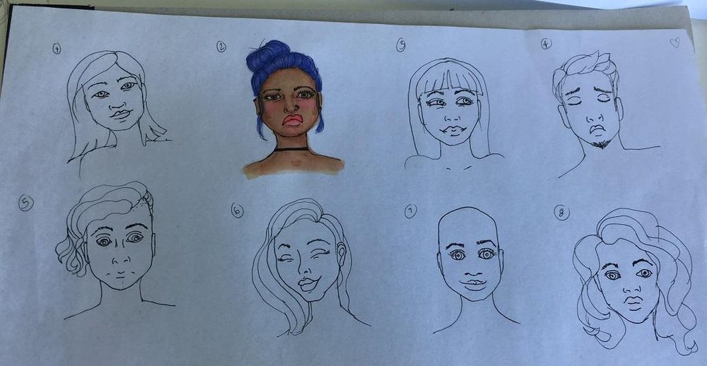 My little faces :) - image 2 - student project