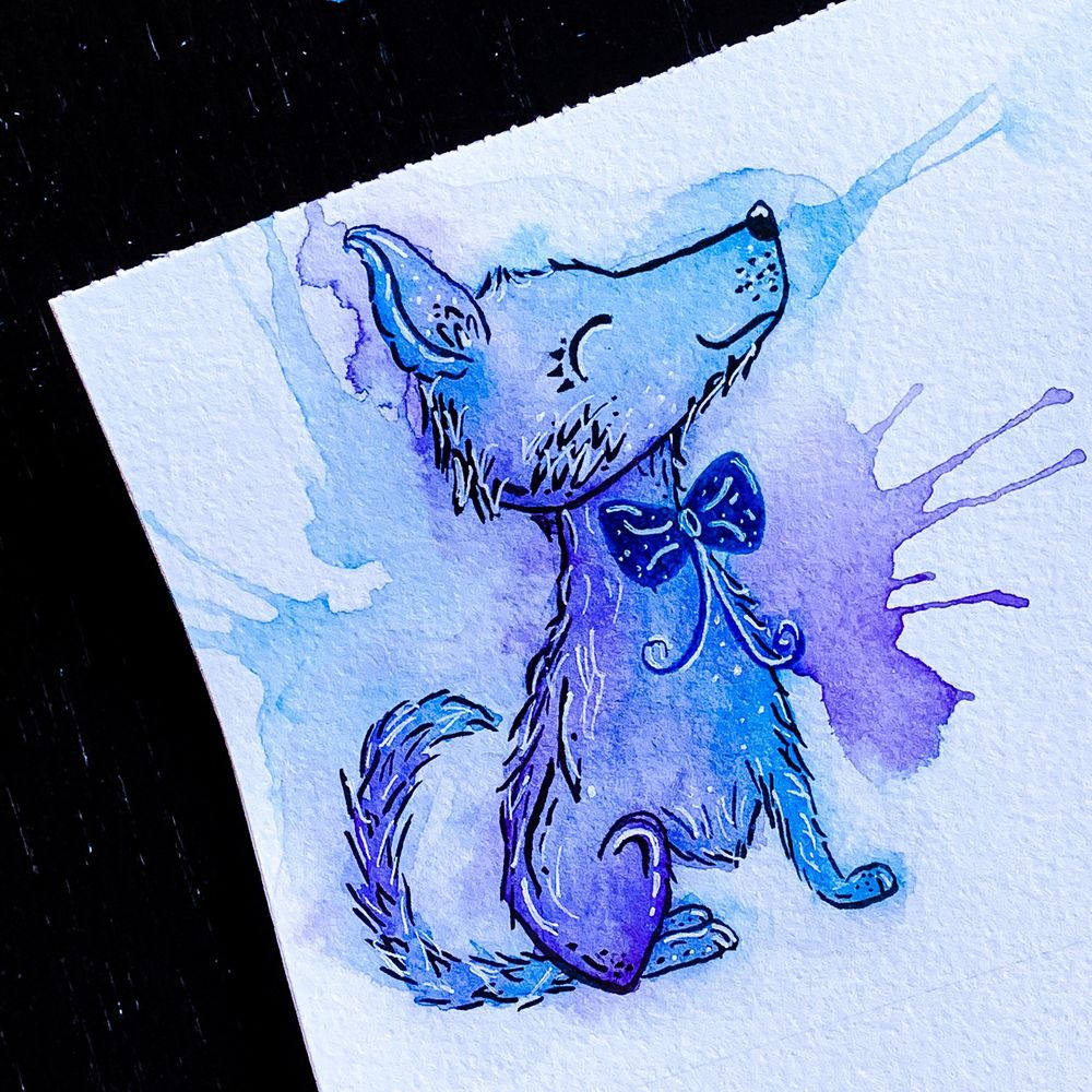 Watercolor Puppy - image 2 - student project