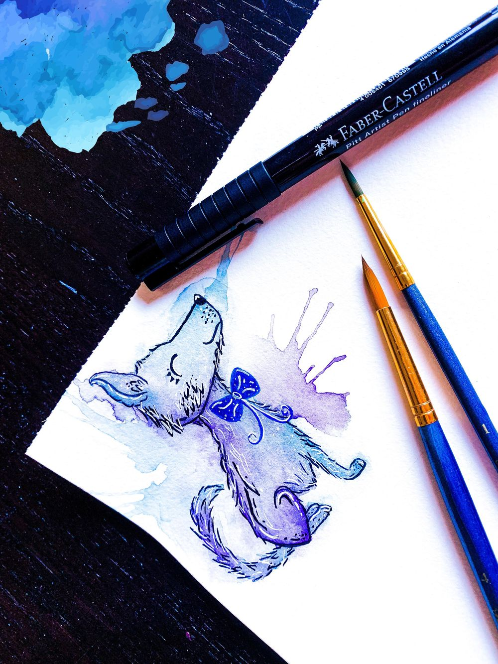 Watercolor Puppy - image 1 - student project